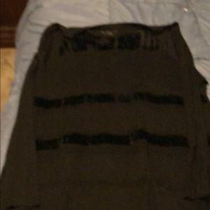 Black hi low tunic